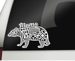 Excited To Share The Latest Addition To My Etsy Shop Tribal Mama Bear Cursive Permanent Vinyl Decal Car Decal Computer Decal Tumbler Decal Bumper Stickers
