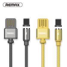 REMAX RC-095a Newest Gravity Magnetic Absorb Dust Plug Double-Sided Android Charging Cabl