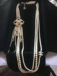 chanel 3 strand pearl cc pendant cc