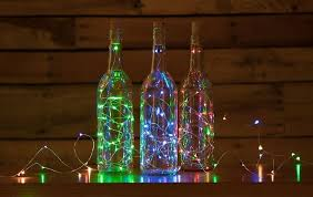 20 rgb led cork wine bottle lamp fairy