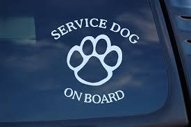 Amazon Com Service Dog On Board Sticker Vinyl Decal K9 Caution Car Pick Size Color V463 4 X 4 White Arts Crafts Sewing
