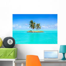 Caribbean Oasis Island Wall Decal Wallmonkeys Com