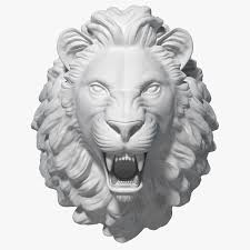 Lion Head Sculpture 3D Model $49 - .ma ...