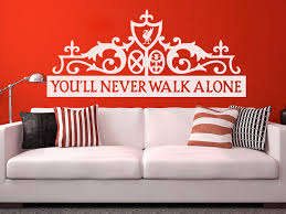 Liverpool Fc You Ll Never Walk Alone Wall Decor Football Boys Room Decor Gift For Men Liver On Luulla