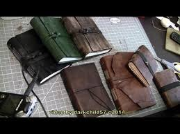 diy leather journal see description