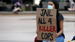 George Floyd protesters: No justice unless all four cops charged ...