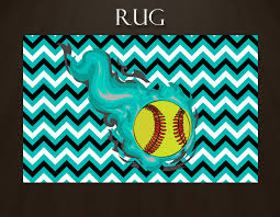 rectangular rug softball gifts