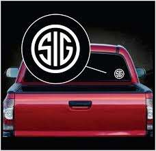 Sig Sauer Truck Decal Sticker A2 Custom Sticker Shop