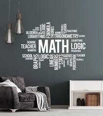 Vinyl Wall Decal Math Words Cloud Art School Decor Science Stickers Mu Wallstickers4you