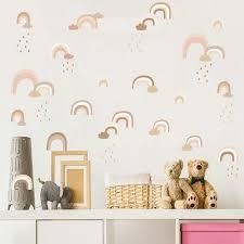 Rainbow Rain Wall Sticker Childrens Room Gallery Wallrus Free Worldwide Shipping