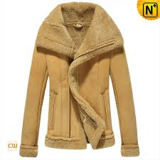 shearling lined leather jacket cw640106