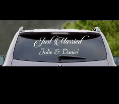 Just Married Window Vinyl Decal Personalized Names For Sale Online