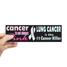 Lung Cancer Bumper Stickers Cafepress