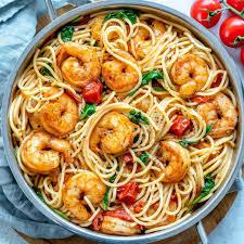 simple garlic shrimp spaghetti