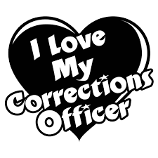 I Love My Corrections Officer Heart Decal