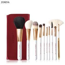 zoreya 10pcs professional makeup brush