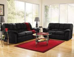 black leather furniture