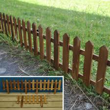 Picket Fence Fencing Wooden Garden Lawn Edging Panels 50cm X 20cm Ebay