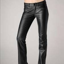 sunset leather bootcut pants