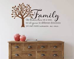 family like branches on a tree home wall quote