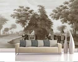 3d Vintage Hand Painting Forest Elephant View Wallpaper Murals Art Wall Decal Hd Photo Wall Papers Roll Wallpapers Contact Paper Wallpapers Aliexpress