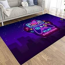 Amazon Com Emmteey 5x7 Farmhouse Area Rug Of Indoor Outdoor Kids Boys Girls Area Rugs Use Smartphone Neon Sign Games Kitchen Dining