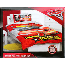 disney cars quilt cover set red
