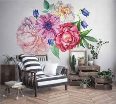 Grass And Flower Wall Decals South Africa Butterfly Black White Design Floral Australia Walmart Blue Vamosrayos