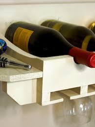 wine rack for bottles and glasses