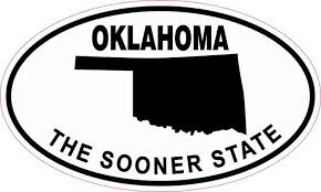 5in X 3in Oval Oklahoma The Sooner State Sticker Stickertalk