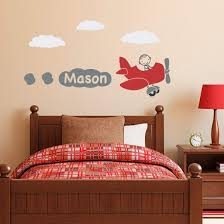 Airplane Wall Decal With Personalized Boys Name Plane Wall Sticker Stephen Edward Graphics