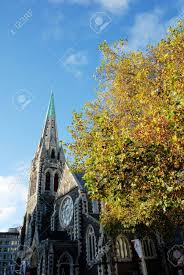 Christchurch Cathedral In Autumn,May,New Zealand It Has Collapsed.. Stock  Photo, Picture And Royalty Free Image. Image 21200857.