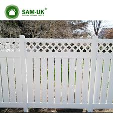 Free Standing Expandable Portable Vinyl Semi Privacy Fencing