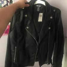 hot topic new leather jacket with tags