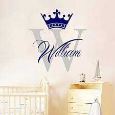 Amazon Com Wall Decals Boys Room Name Decal Crown Decor Monogram Decal Stickers Nursery Bedroom Decor Ds310 Home Kitchen
