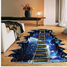 New Large 3d Cosmic Space Wall Sticker Galaxy Star Bridge Home Decoration For Kids Room Floor Living Room Wall Decals Home Decor Wall Stickers For The Home Wall Stickers Home From Novelty 1
