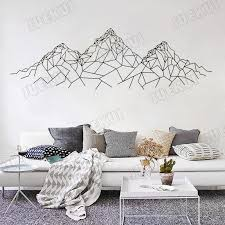 Geometric Pattern Mountain Removable Wall Stickers For Living Room Home Art Decoration Vinyl Wall Decals Bedroom Poster Art Decals For Walls Wall Mural Decals Cheap From Joystickers 10 67 Dhgate Com