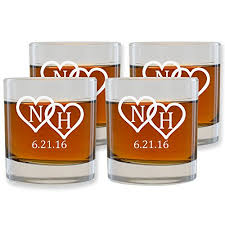 personalized whiskey glasses set of 4