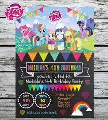 10 Mi Pequeno Pony Nina Personalizado Fiesta De Cumpleanos Invita