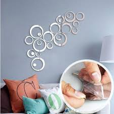 Sweet Circles Self Adhesive Mirror Wall Sticker 24 Pieces Total Next Deal Shop