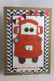 Vip Pit Pass Mater Birthday Card Lightning Mcqueen Curvy