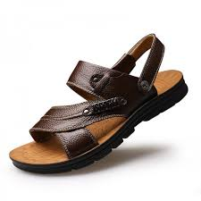 summer sandals mens genuine leather