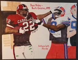 Duce Staley - South Carolina Drawing by TJ Doyle