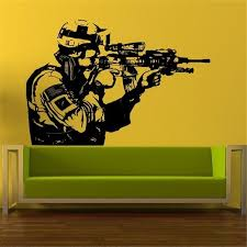 The Soldiers Kit Wall Stickers Army War Decor Boys Vinyl Art Decal Kids Room Home Decor D218 Leather Bag