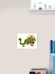 Music Chameleon Art Print By Ramirodiz Redbubble