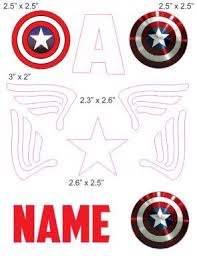 Captain America Baby Helmet Helmet Design Vinyl Decal Stickers