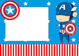 Captain America Baby Free Printable Mini Kit Convite Capitao