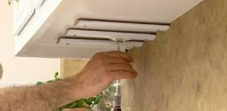 kitchen cabinet wine glass display rack