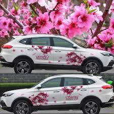 Japanese Cherry Blossoms Car Decoration Stickers Drift Sticker Universal 3d Car Decals Camouflage Vinyl Car Door Stickers Car Decoration Stickers Car Door Stickersdrift Sticker Aliexpress