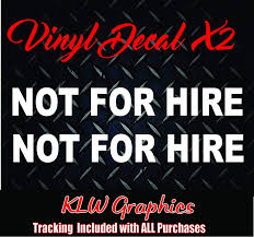 Amazon Com Not For Hire Vinyl Decal Sticker Everything Else